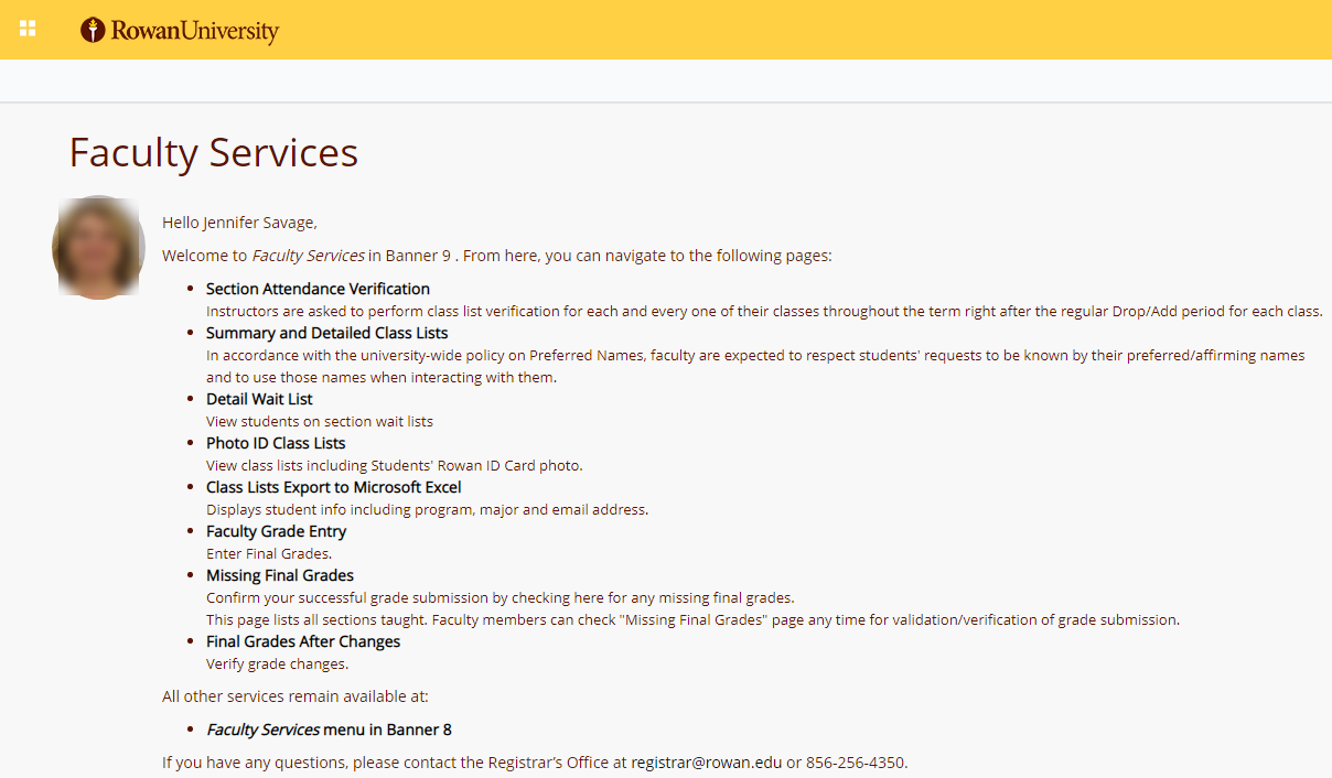 Public Knowledge - Banner Faculty Services Dashboard