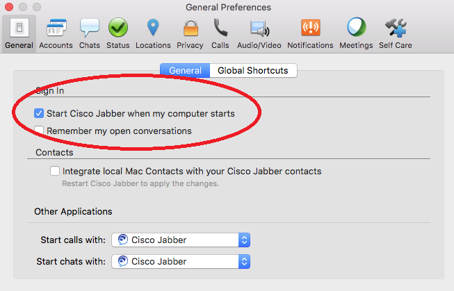 Public Knowledge - Jabber: Automatically Start After Logging In