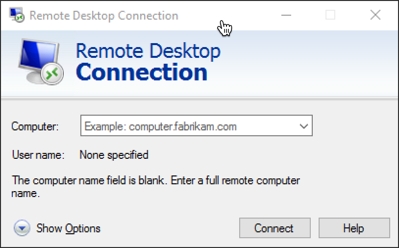 Public Knowledge - Connect to a Server Using Secure RDP in